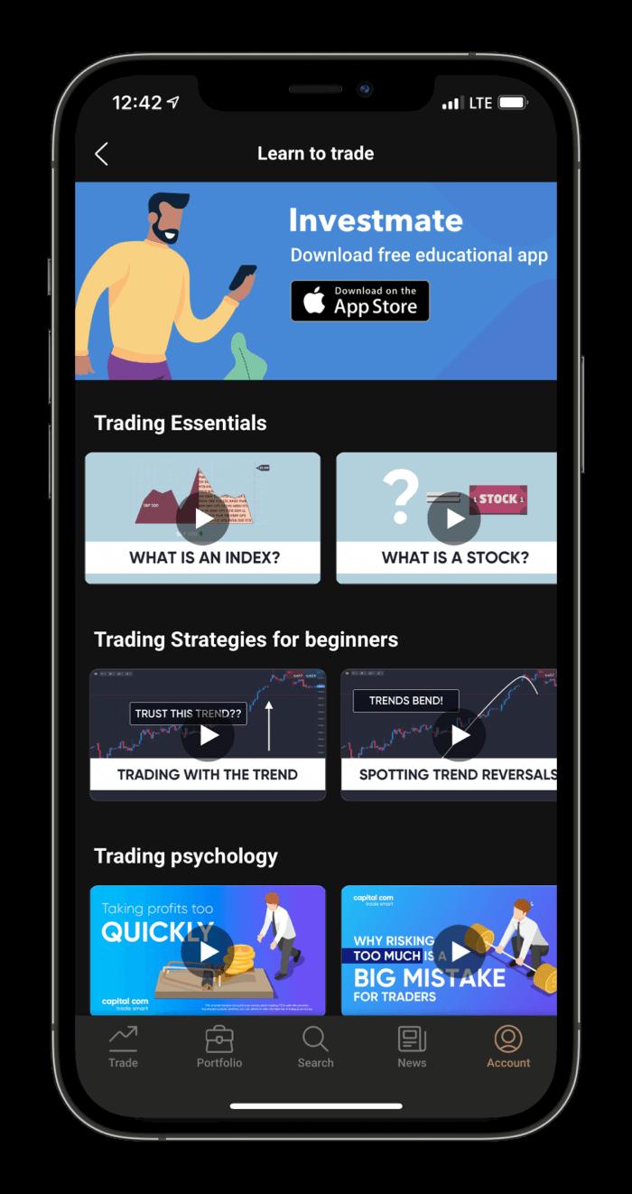 Capital.com Mobile platform tutorials