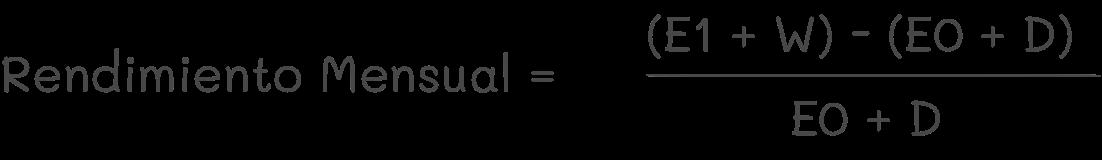 Formula Rendimiento Mensual eToro