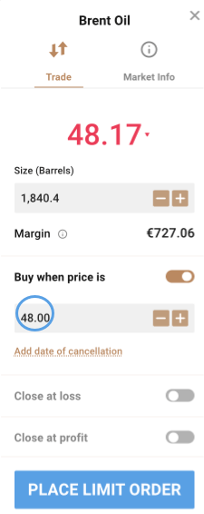 Buy Limit Order Placement
