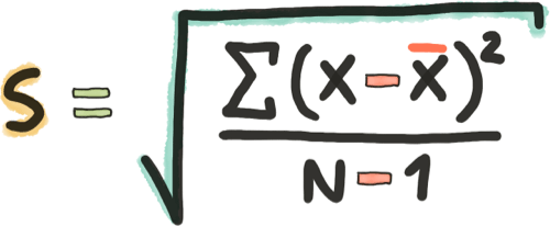Formula Desviacion Estandar