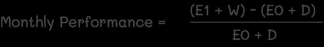 eToro's monthly performance formula